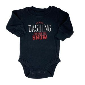 (B💲5)Dashing Through the Snow Black Bodysuit 3m